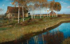 Autumn Morning - Otto Modersohn