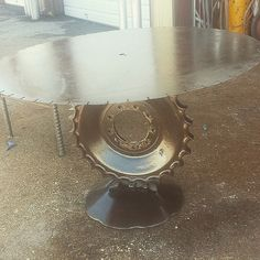 https://flic.kr/p/qQfDBZ | Steampunk table by Recycled Salvage Design http:// www.recycledsalvage.com #recycledsalvagedesign #RECYCLEDSALVAGE #recycledart #REPURPOSEDFURNITURE #upcycled #upcycledfurniture #art #ARTFURNITURE