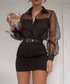 Glamouröse Outfits, Teen Fashion Outfits, Cute Casual Outfits, Look Fashion, Pretty Outfits, Stylish Outfits, Fashion Dresses, Fashion Black, Night Outfits