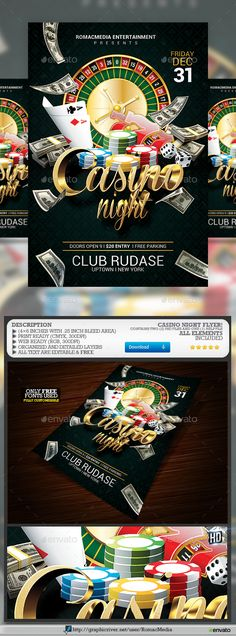 Casino Night Flyer Casino Night Flyer Template And Event Flyer