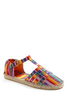 These rainbow striped flats are just what I need for the summer! I can see me wearing these pretty much every day! :)