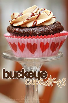 Buckeye Cupcake- chocolate cupcake with Peanut Butter Buttercream & Chocolate Glaze.