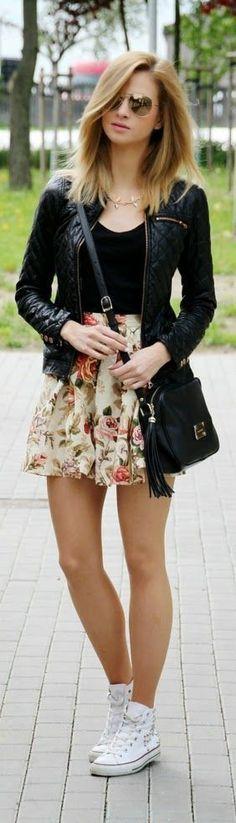 Me encanta este look es perfecto para el verana sin la chaqueta pero para un día perfecto de primavera