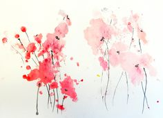 "Saatchi Online Artist: Karin Johannesson; Watercolor 2013 Painting ""Posies"""