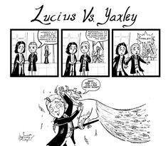 Lucius Malfoy Yaxley Snape Harry Potter fan art peacock animagus deatheaters