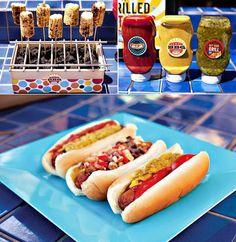 decoracion, merienda, dulces, frutas, juegos, manualidades, ideas, imprimibles gratis para cumpleaños y fiestas Hot Dog Buns, Hot Dogs, Ideas Para Fiestas, Bbq Party, Summer Parties, Snack, Grilling, The Originals, Birthday