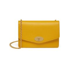 Postman's Lock Clutch in Canary Small Classic Grain | Women | Mulberry