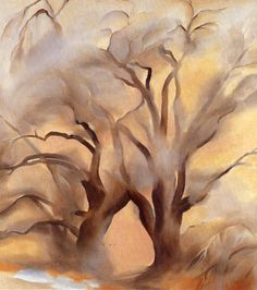 Georgia O'Keeffe, Winter Cottonwoods East V, Oil on canvas, 40 x 36 in. Georgia O'keeffe, Alfred Stieglitz, Wisconsin, Georgia O Keeffe Paintings, Lawrence Alma Tadema, New York Art, Art Graphique, Kandinsky, Anime Comics