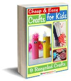 FREE Ebooks craft with kids.  Cheap and Easy Crafts for Kids: 9 Recycled Crafts