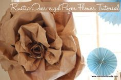 giant butcher paper flowers - Google Search