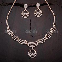 Buy CZ, Zircon & American Diamond Necklace Sets For Women Online Diamond Necklace Set, Gold Necklace, Silver Necklaces, Diamond Choker, Short Necklace, Bridal Necklace, Heart Choker, Bridal Jewelry Sets, Necklace Designs
