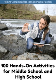 100 Hands-On Activities for Middle School and High School Hands-on learning activities aren't just for kids. These 100 hands-on activities for middle school and high. Homeschool High School, Middle School Activities, Kids Learning Activities, Educational Activities, Middle School Science Projects, Hands On Learning, Hands On Activities, Science Activities, Math Games