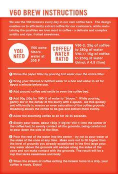 Hario V60 brew guide. #v60 #brewing #pourover #coffee #guide