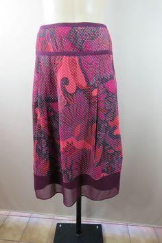 LAST CHANCE SALE ENDS TODAY Size XL 16 Katies Ladies A-Line Autum Colour Peasant Skirt High Tea Boho Feminine Work Style