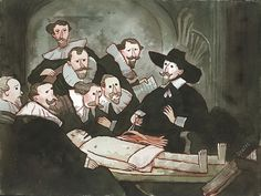 the anatomy lesson painting the rock » Electronic Wallpaper ...