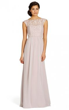 Pink Sleeveless A-line Floor-length Dresses