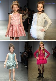 Peplum-style party dress trend by Pip & Pea at petitePARADE 2014.
