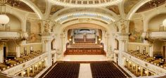 Order Tickets for Pachelbel, Mozart & Vivaldi at the Municipal House — The chamber orchestra of the Dvorak Symphony Orchestra performs at the magnificent Municipal House of Prague. Orchestra, Stairs, Mansions, House Styles, Home Decor, Stairway, Decoration Home, Manor Houses, Room Decor