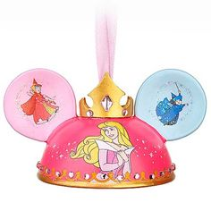 Princess Aurora Limited Edition Ear Hat Ornament - The only thing I don't like about this one is that Fauna is left all by herself on the back and the back of the other ear has nothing on it. Fauna is always slighted. :( ~ <3 Michelle M