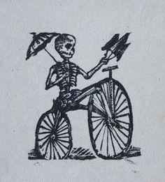La muerte en bicicleta - José Guadalupe Posada