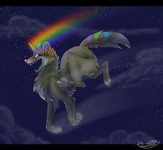 Julka the wolf-unicorn by Krawatorii