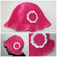 Chapéu rosa em croché