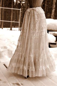 Lace Petticoat for Romantic Victorian Vintage by LaBelleFairy