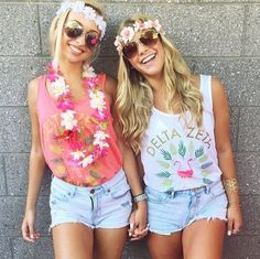 DZ Flamingo Tees by TSL | Delta Zeta | Summertime | Recruitment Ideas | Bid Day | Sorority Shirts