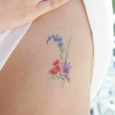 5 months healed tattoo  .  발색 5개월  .  Jupiter(Birth flowers of family)    .  가족 탄생화로 만든 목성기호  .  #soltattoo#솔타투#tattooistsol