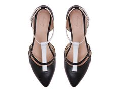 Black Leather, Sandals, Wome'ns Sandals, Flat Shoes, women shoe, Leather Flats, Leather Shoes, Women's Shoes, black and white Shoes