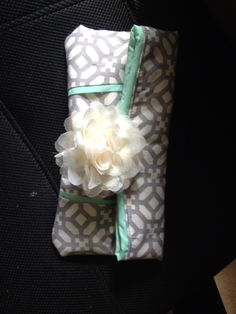 Bridesmaid gift.  Made by my friend Maureen Bertsch.