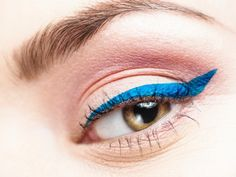 """The Best Makeup Trends 2014 -  Colored eyeliner, orange lips, white eye shadow and """"natural"""" (yuck)"""