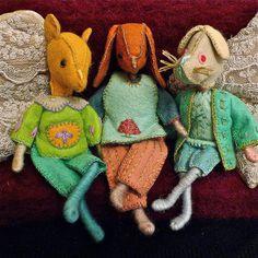 felt bendy animals by Malphi, via Flickr