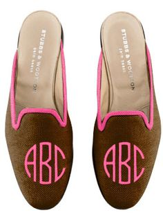 Stubbs & Wootton #monogram #pink