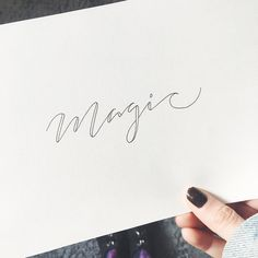 [ Magic ] Custom Calligraphy | Sofia Dezaki
