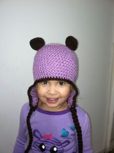 Bear Beanie made with Lavender and Dark Chocolate. Customize your order at  www.mycoolhats.com 92cfca764b5