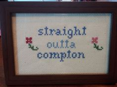 MATURE Funny Cross Stitch Framed!  Decorate your place with very inappropriate fun! on Etsy, $30.00