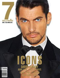 David Gandy Dons Dolce & Gabbana's Eveningwear on the Cover of 7 Hollywood Magazine