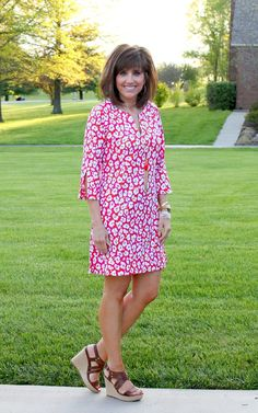 What I Wore-Jude Connally Dress - I like this dress.