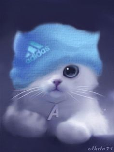 gif by AmandaLK- Photobucket Cute Cat Wallpaper, Cute Wallpaper Backgrounds, Animal Wallpaper, Cute Animal Drawings Kawaii, Cute Drawings, Anime Animals, Funny Animals, Kittens Cutest, Cute Cats