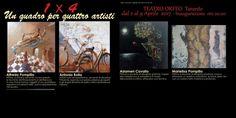 Taranto - 1x4, un quadro per quattro artisti: la mostra al Teatro Orfeo dal 2 al 9 aprile