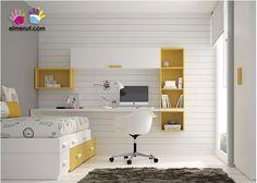 dormitorio juvenil con cama bloc