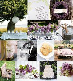wedding in lavendar