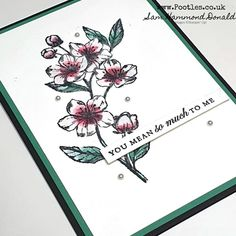 #1 Stampin' Up! UK Demonstrator Pootles – Forever Cherry Blossoms Stylish Card Idea