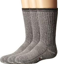 $11.00 each - Wigwam Unisex Merino Comfort Hiker 3 Pack (Toddler/Youth) Charcoal Sock  $33.00  Size: Youth MD (7-10 Toddler Shoe)Color: Charcoal