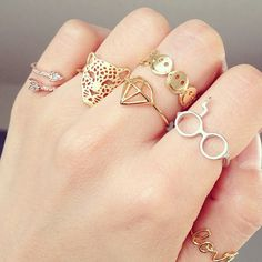 Delicate Statement Rings