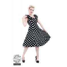 Vintage Classic Big Polka Dot Shawl Collar Rockabilly Tea Dress New H&r London, Scoop Neck Dress, Rock Collection, Collar Dress, Large White, Dot Dress, Swing Dress, Rockabilly, Vintage Fashion