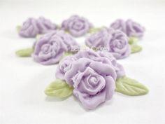 12 Lavender Fondant Flowers Edible Cake Decoration Cupcake