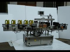 automatic double side labeling machine for oval round square bottles jars
