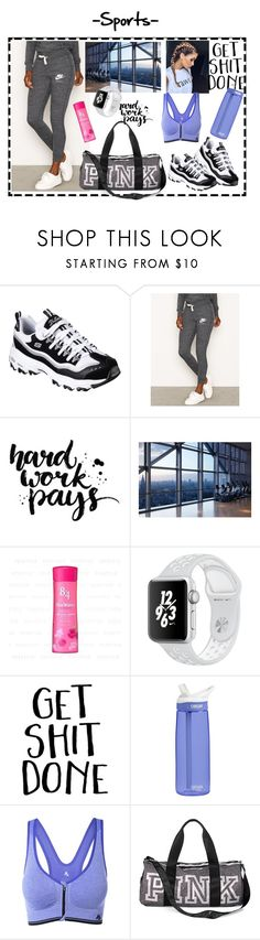 """""""Sports"""" by zarnati ❤ liked on Polyvore featuring Skechers, CamelBak, Victoria's Secret and Sports"""